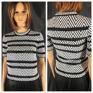 XS Louis Vuitton Short Sleeve Knit Top